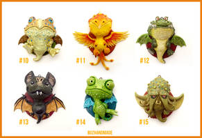 Dragon Charms Collection 2  - CLAY Sculptures
