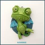 Chameleon Dragon #14 - Polymer Clay Charm