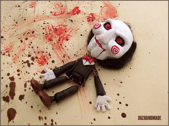 Halloween stuff - SAW - Clay puppet by buzhandmade