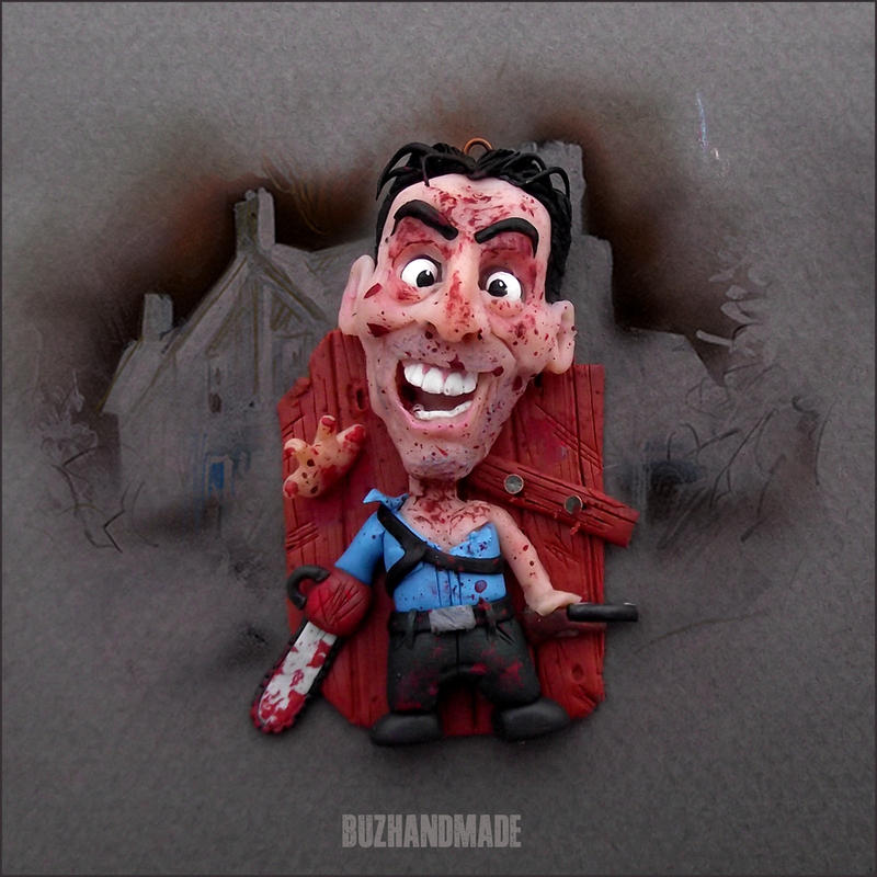 Evil Dead 2 - ASH Williams CLAY charm Horror Cult