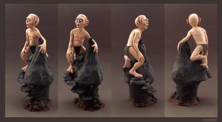 GOLLUM - Polymer Clay Sculpture