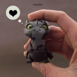 Toothless Handmade in my Hand :)
