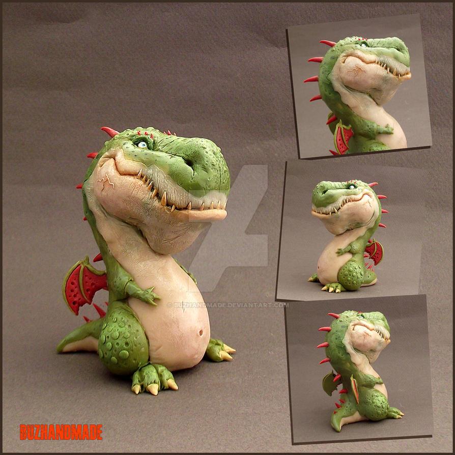 YOSHI Dragon Sculpture - Buzhandmade by buzhandmade