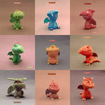 3D Dragons new collection - Buzhandmade