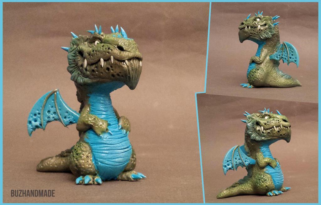 Dragon #47 - BUZHANDMADE by buzhandmade