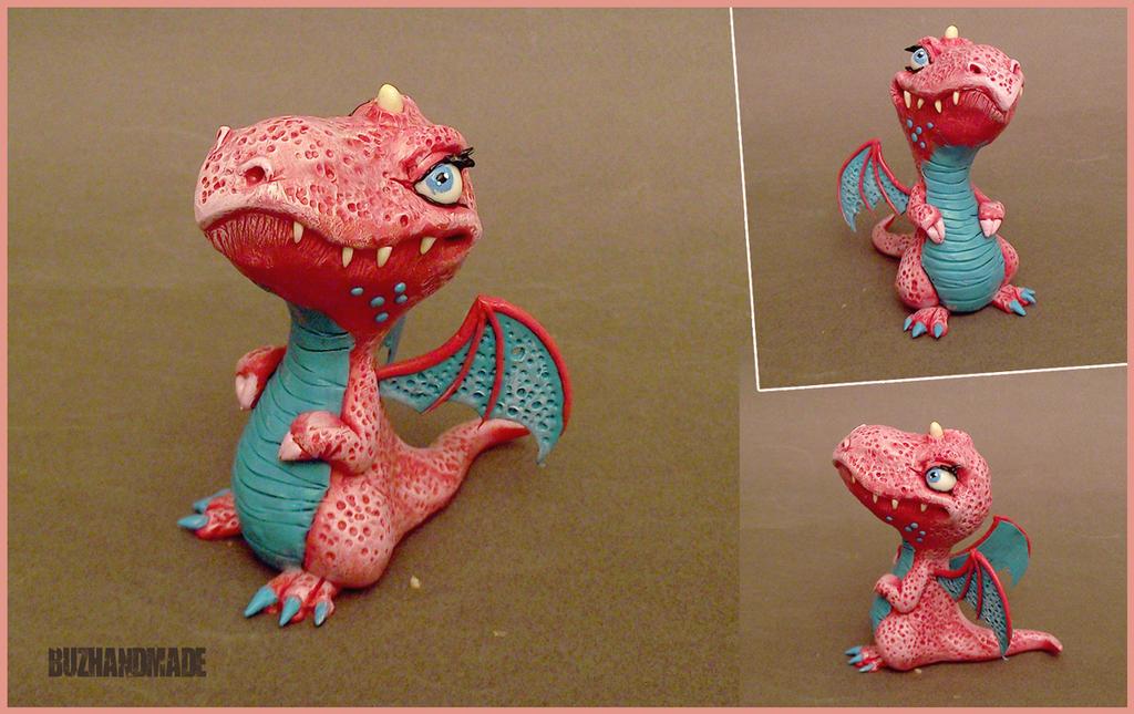 Lady Dragon #48 - BUZHANDMADE by buzhandmade