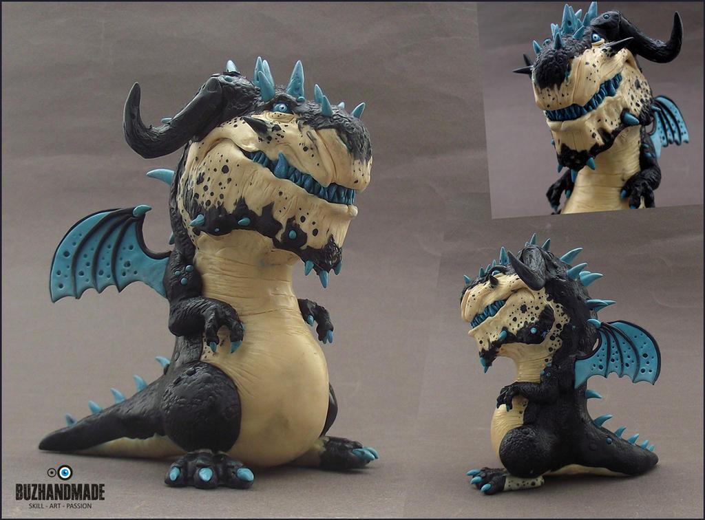 Ice Battle Dragon by buzhandmade