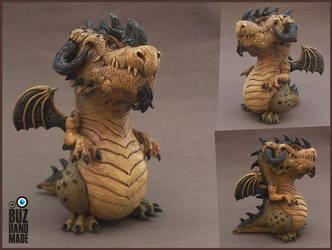 Sand Battle Dragon by buzhandmade