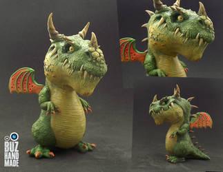 Green Hunter Dragon by buzhandmade
