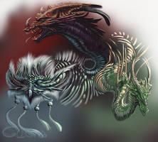 Dragon heads by Cibana