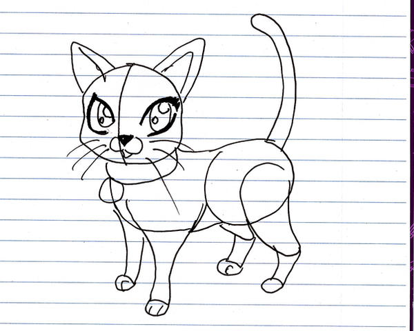 How to draw a cartoon cat by xxerindragonxx on deviantart for How to draw a cartoon kitten