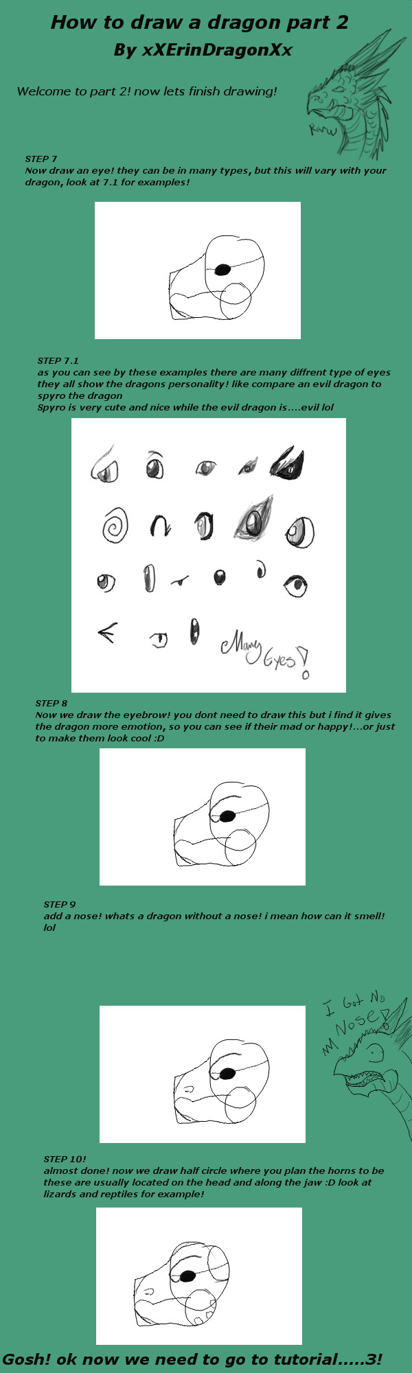 How To Draw A Dragon Part 2 By Xxerindragonxx