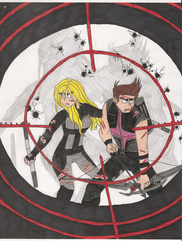 Hawkeye and Mockingbird by bdehkte