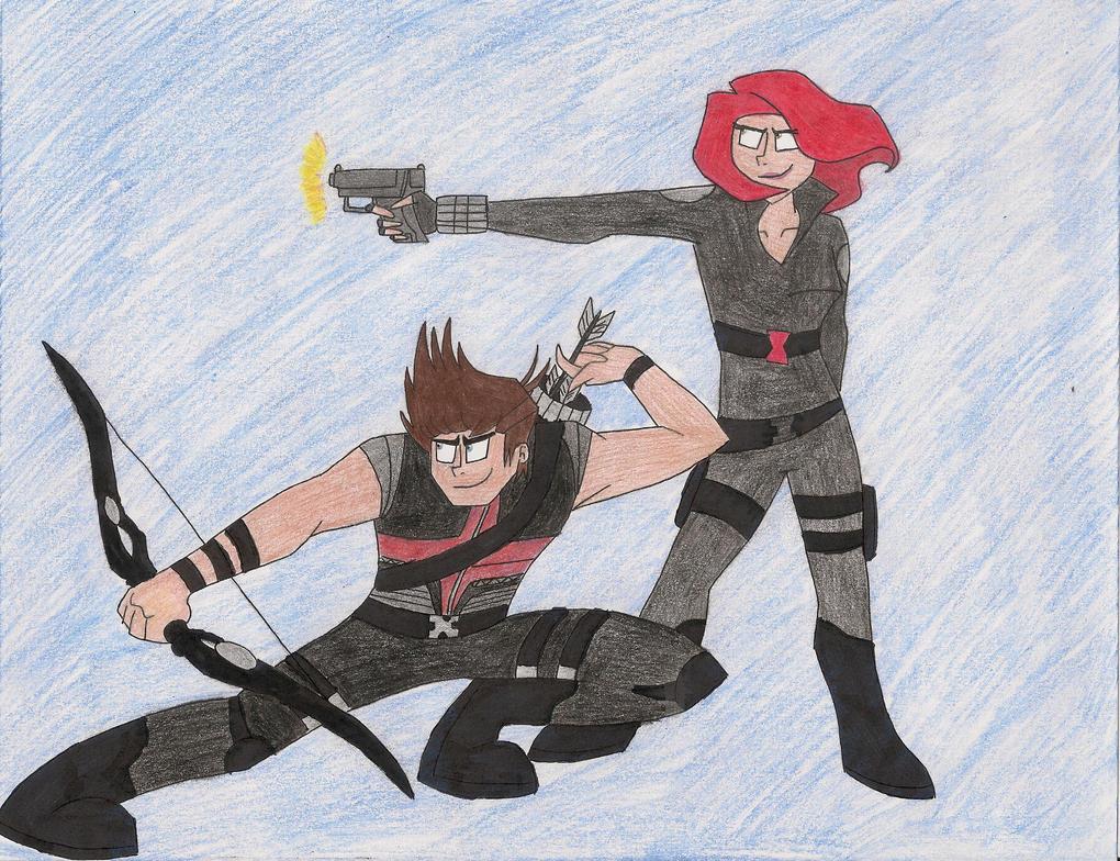 Hawk and Spider by bdehkte