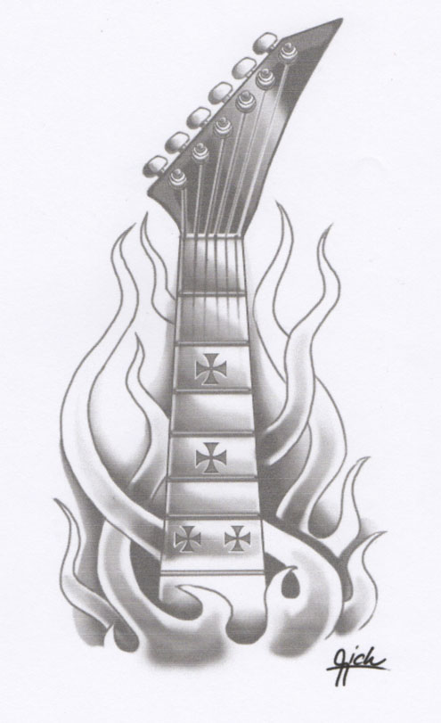 Guitar Tattoo Design By Rickzor1983 On Deviantart