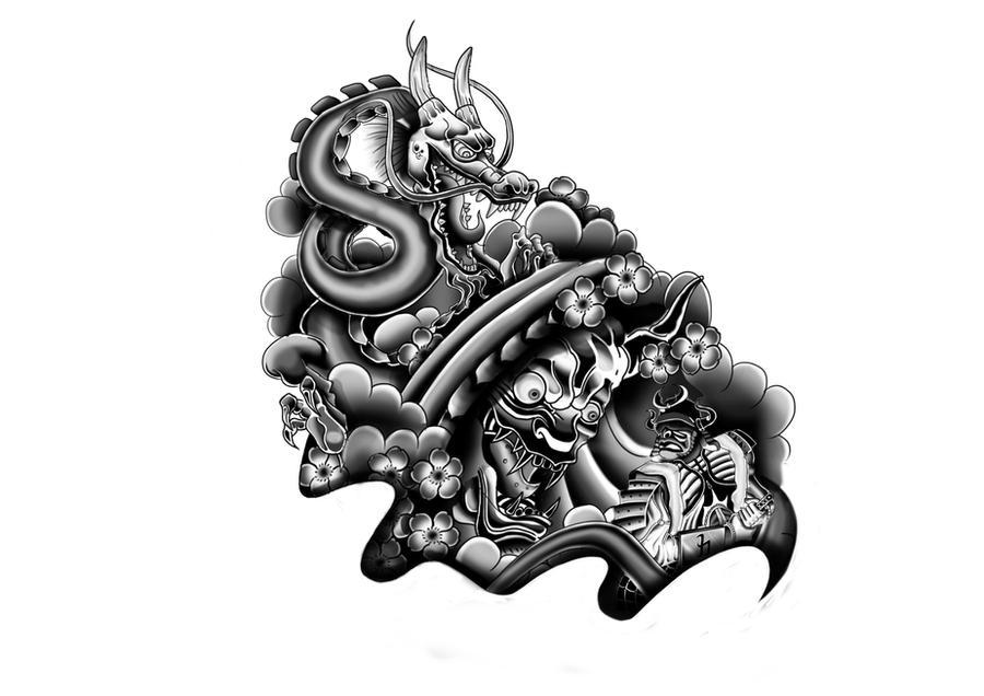 Japanese Tattoo Design By Rickzor1983 On Deviantart