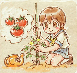Salt tomato by oi-chan