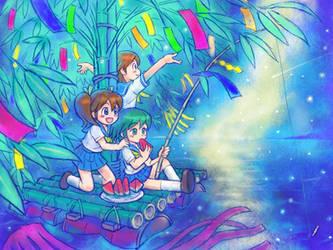 Tanabata Sailors by oi-chan