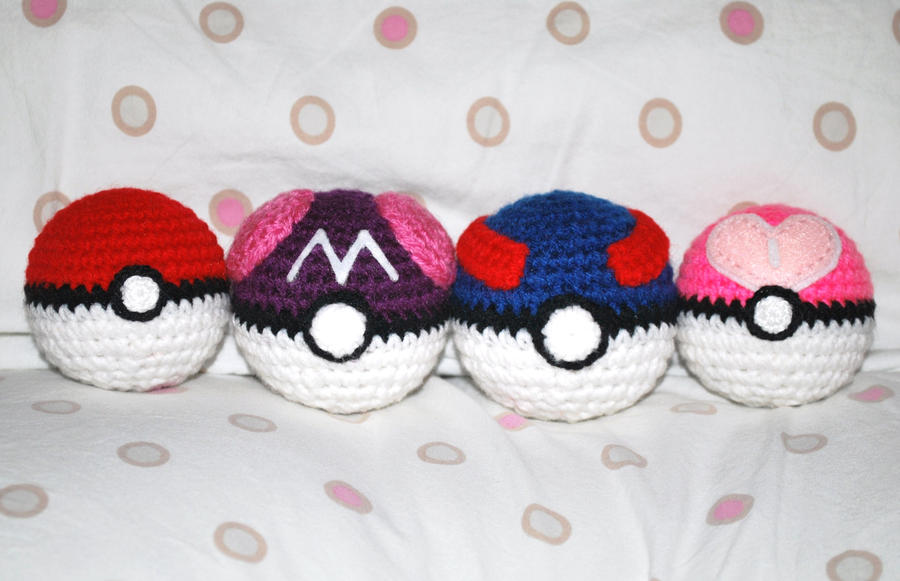 Amigurumi Master Ball : Master Ball and Great Ball by craftyhanako on DeviantArt