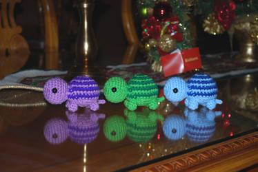 3 Turtles by craftyhanako