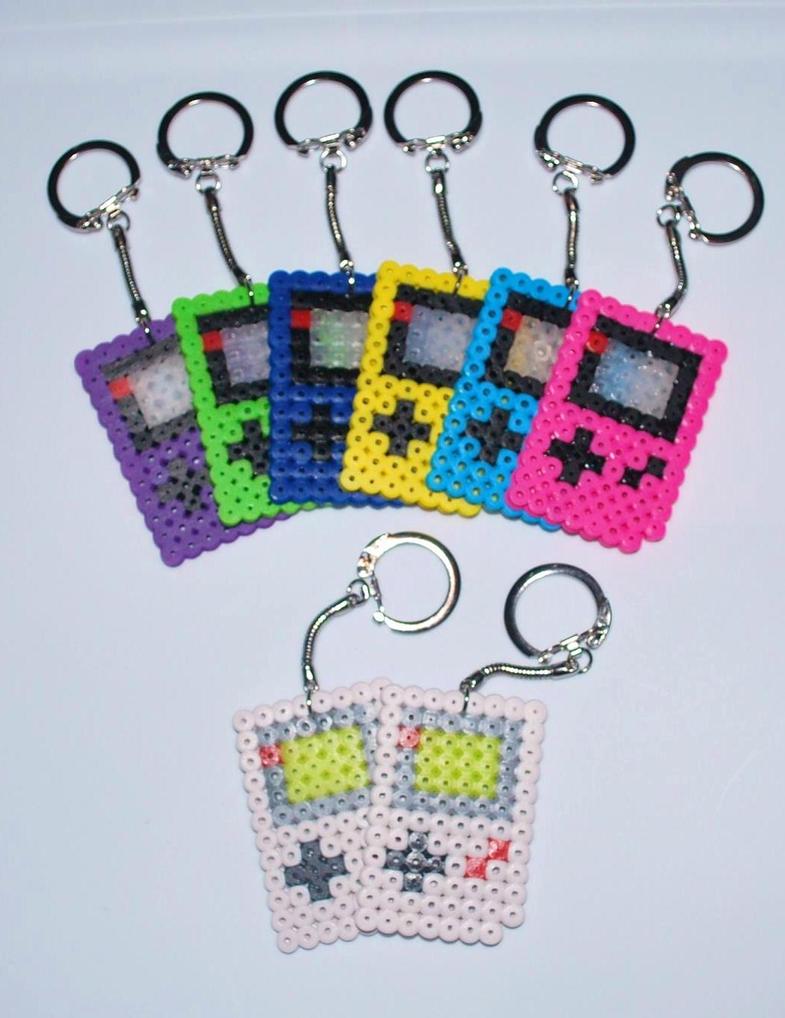 Game Boy Key Chains. by craftyhanako