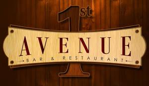 First Avenue wood logo