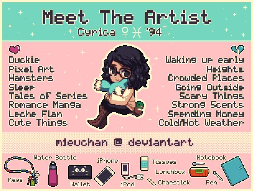Meet The Artist Meme by MieuChan on DeviantArt