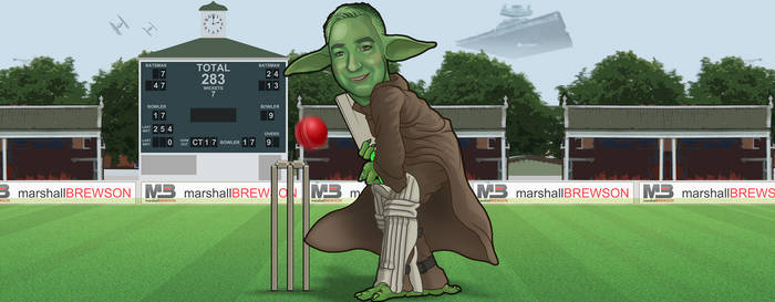Kier Yoda Playing Cricket He Is
