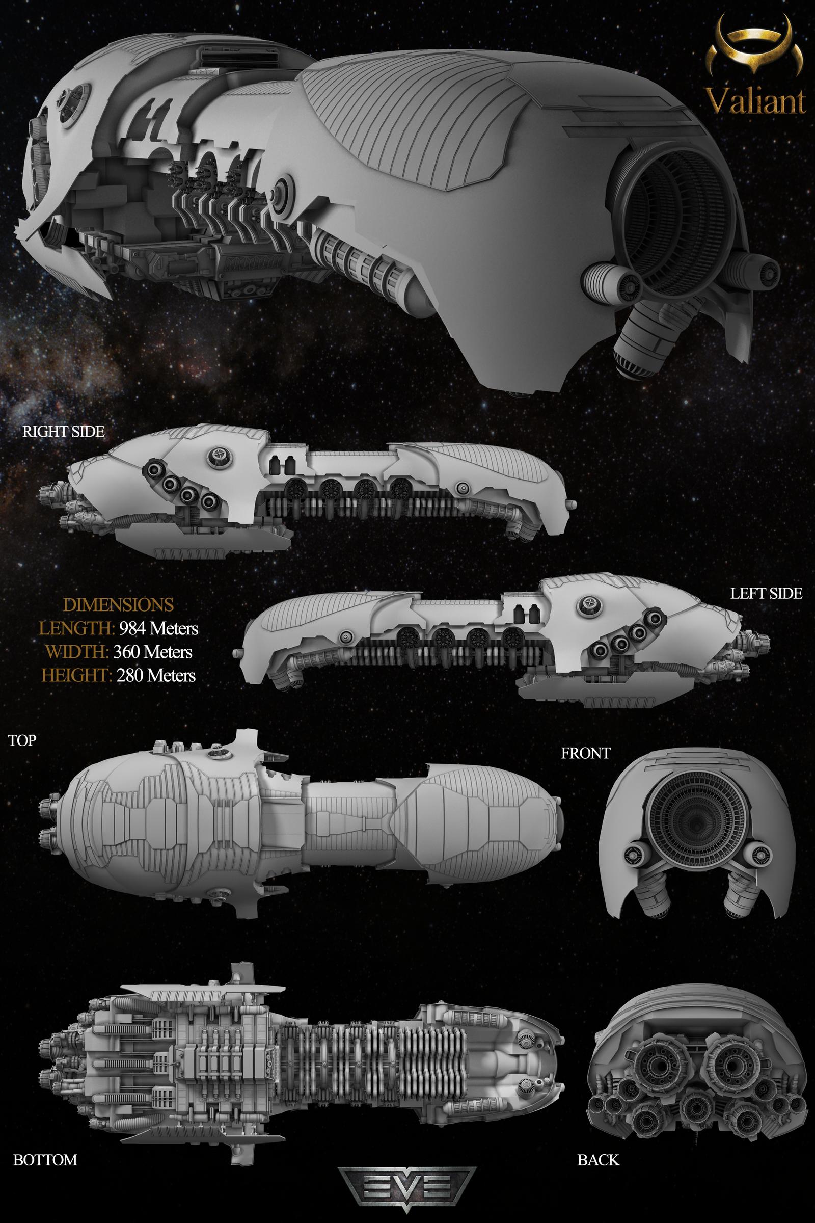 Eve Starship Valiant by bobalina