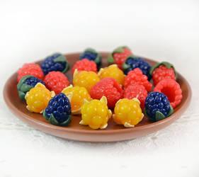 Raspberries, Cloudberries, Blackberries