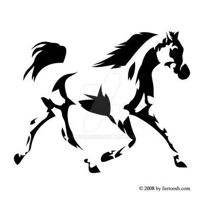 Arabian Horse Vectorized by hotah on DeviantArt