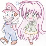 Chibi Mario and Moka
