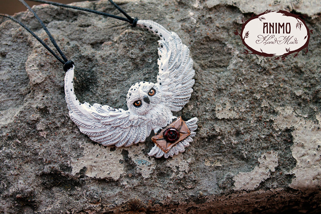 Pendant - Hedwig, the owl of Harry Potter by VivianaDark