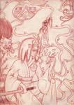 Bishamon's dream -pencils- by Demon-Spirit