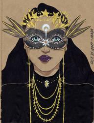 Inktober 2017 Day 31 - Mask by Demon-Spirit