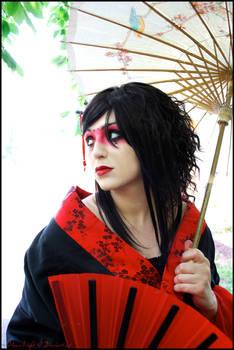 Geisha L: Brush on Silk