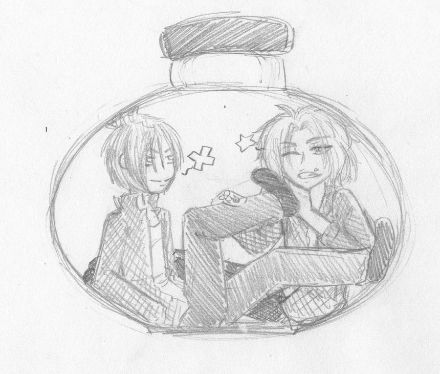 Stuck In A Bottle With Mukuro by TrollerBridge