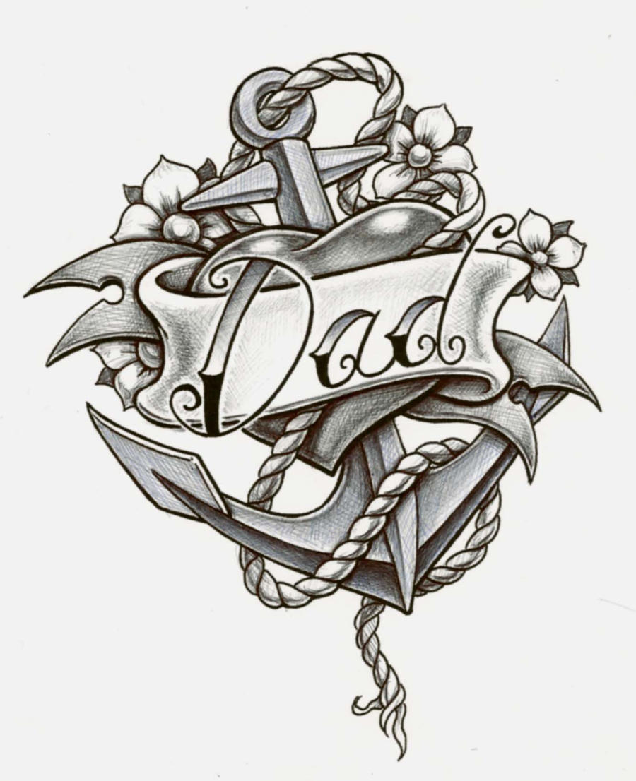 dad anchor by cbader New School Anchor Drawing