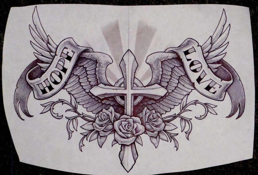 cross and wings and such by cbader on DeviantArt