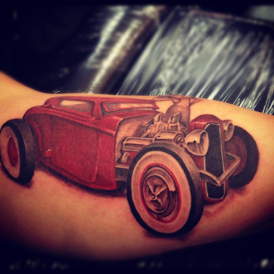Classic Hot Rod Tattoos Wiring Diagram Tattoo Cbader On Deviantart 894x894