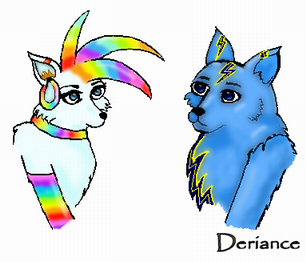 Portraits of Jess and Spark by Deriance