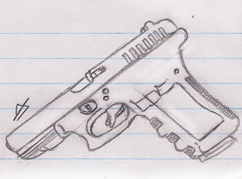 Glock 17 9mm Handgun by motek93 on DeviantArt