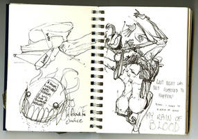 July Sketch Binge II by b33lz3bub