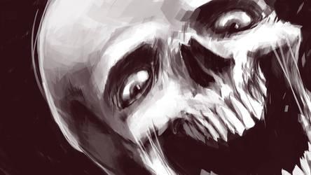 skull wallpaper by b33lz3bub