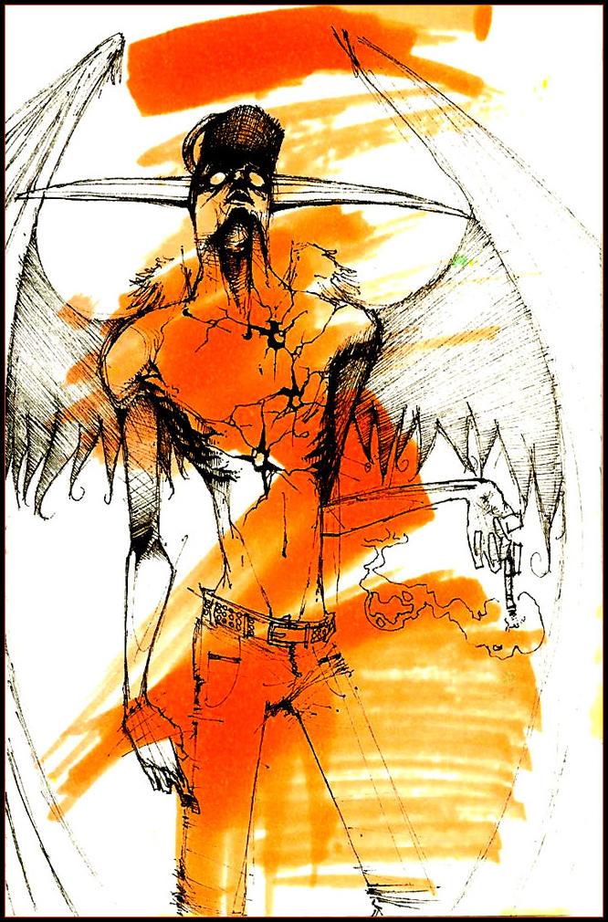 flame retardent arsonist angel by b33lz3bub