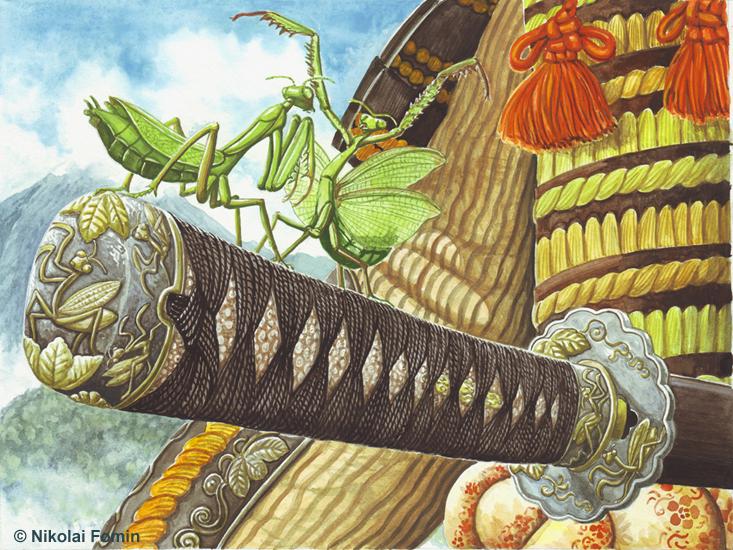 Praying mantis. by Nikkolainen