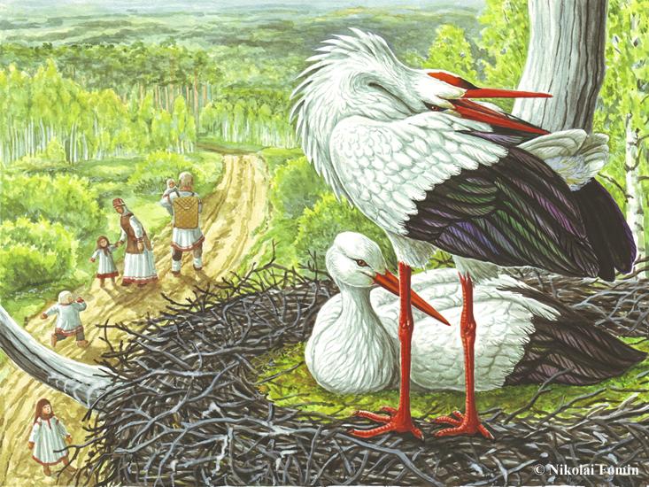 Baby bringer (white stork). by Nikkolainen