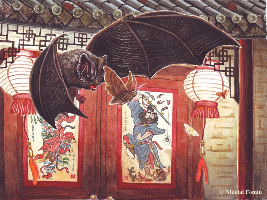 Eastern barbastelle, the companion of Zhong Kui. by Nikkolainen