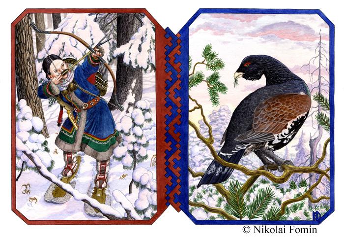 Khanty huntswoman. by Nikkolainen
