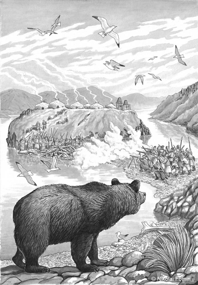 The assault of Koryak settlement in the mouth of by Nikkolainen